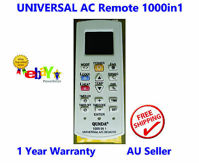 Universal Air Conditioner Remote Control - Kelvinator Lumina Mistral NEC + more