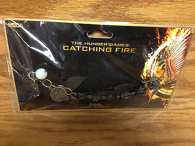 District 12 COAL CHARM BRACELET The Hunger Games Catching Fire ** Brand New !