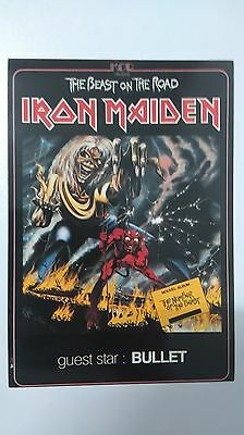Iron Maiden the Beast on the Road vintage music postcard POST CARD