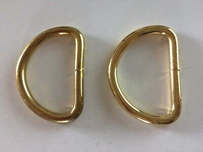 2  x 37mm (1.5 inches)   Brass coloured welded D ring Buckles for webbing