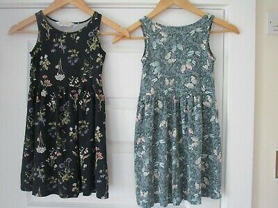 STUNNING Girls H&M Dresses Butterfly Design Dress & Floral Pattern Age 6-8 Years