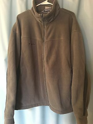 Men's Columbia Fleece Jacket Size XL Full zip front Grey & Black