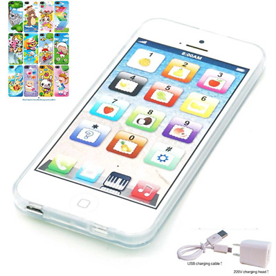 Music Toy Y-phone Play Cellphone USB Mobile Phone Educational Toys Kid White 1:1