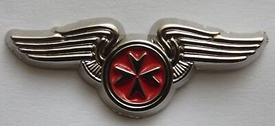 Knights Hospitaller St John Malta.  Cross in Wings Lapel Pin Badge