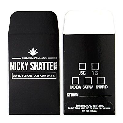 Nicky Shatter World Famous Labels Concentrate Packaging Extract Envelopes #104