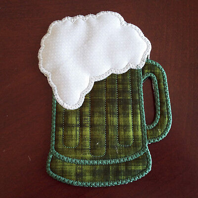 COASTERS~MUG RUG~HAND STITCHED~3&1/2 Inches Square~Double
