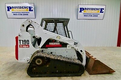 Bobcat T190 Skid Steer Track Loader, 61 Hp, Weight 7612, Tipping Load 6851!