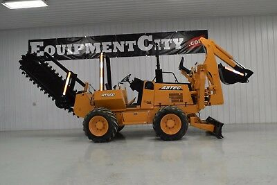 2010 Astec RT960 Trencher Vibratory Cable Plow Backhoe Ditch Witch Vermeer Case