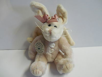 Boyds Bears BUNNY RABBIT with WINGS & Flower + FREE SHIP! NEW NWT!