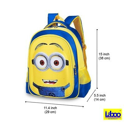 MINIONS KID BACKPACK-3D Cartoon School Bag For Children Ages 5 ... abd42772167dc