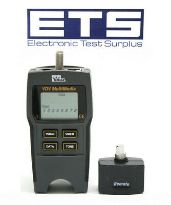 Ideal Industries 33-856 VDV Multimedia Cable Tester With Remote & Coax ID #1