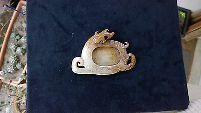 Antique Fine Material and Carving Skill Jade Dragon Motif Brush Washer/Coupe.