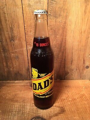 New Old Stock Dads Rootbeer Bottle Unopened 10 Ounce Jr