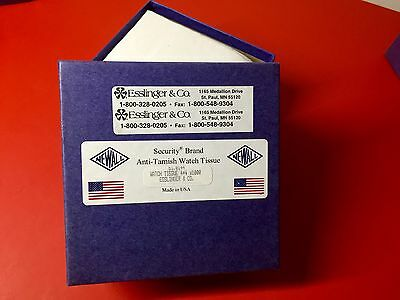 Commercial Jeweller's WATCH TISSUE 1K(4x4)Sheets by Esslinger & Co.USA