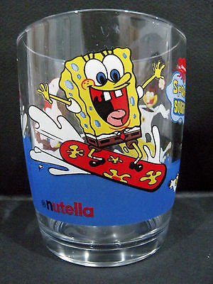 SpongeBob SquarePants promotional Glass - Surfing, by Nutella  vgc - 2 available