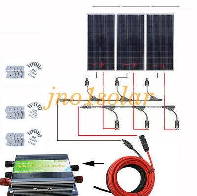 480W 12V 3x 160W Complete Solar System kit w/ 45A Controller for Home Off Grid