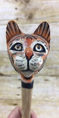 Handcrafted Carved Hand Carved Wood Spoon TIGER HANDLE