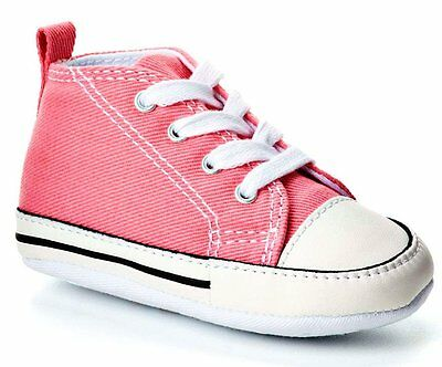 CONVERSE FIRST STAR Pink Baby Crib Newborn Toddler Infant