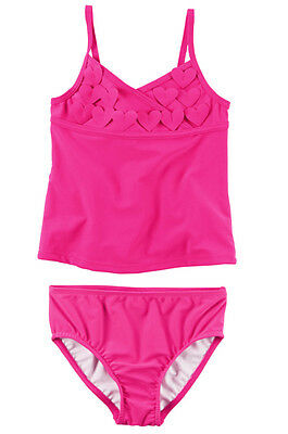 Carter's Baby Toddler Girl Pink 2PC Heart Tankini Set Swimsuit UPF 50+ 2T 4T NWT