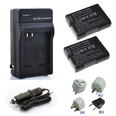 Hi Capacity EN-EL14a Battery / Charger For Nikon D3400 D5600