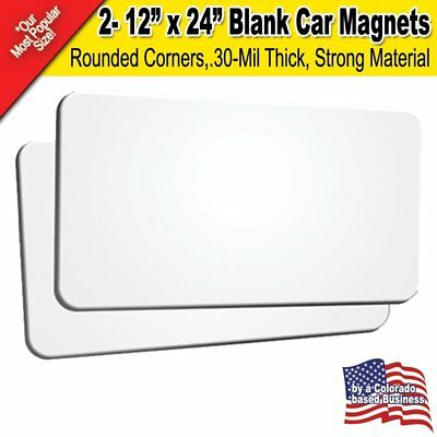 "2 Pack 12""x24"" Blank Car Magnets"