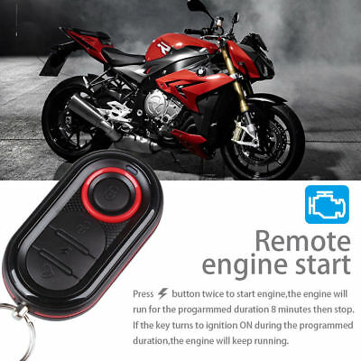 Steelmate 1 Way Anti-theft Motorcycle Alarm Security System Remote Engine Start