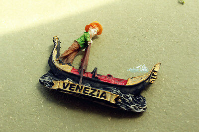 Italy Venice Gondola Tourist Travel Souvenir 3D Resin Fridge Magnet Craft GIFT