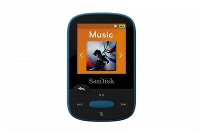 SanDisk Clip Sport 8GB MP3 Player, Blue With LCD Screen SDMX24-008G-G46B New