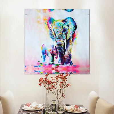 New Modern Wall Decor Hand-painted Art Oil Painting Abstract Elephant on Canvas