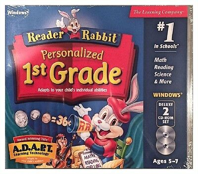 Reader Rabbit's Personalized 1st Grade PC Brand New Sealed - 2 Cd Roms - Nice