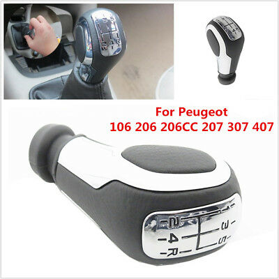 New 5-Speed Manual Gear Shift Knob Lever For Peugeot 106 206 206CC 207 307 407