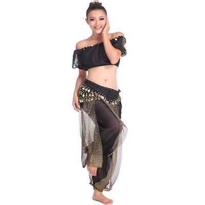 AU Belly Dance Top & Pants Bollywood Harem Dancing Costume Bollywood Set Sz8-10