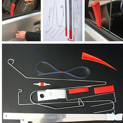 10PCS Emergency Auto Entry Release Car Door Wedge Repair Tool Kit Air Wedge Bars