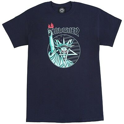 Thrasher - Liberty Goat Mens Tee Navy