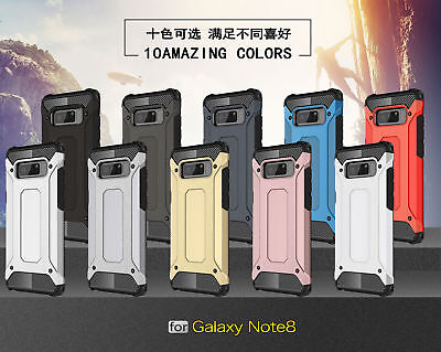 Shockproof Rubber Bumper Hybrid Armor Hard Case Cover For Samsung Galaxy Note 8