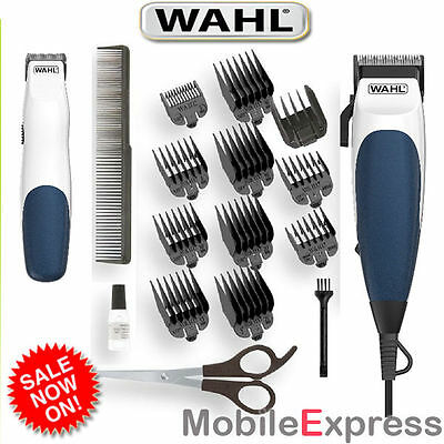 WAHL HOMECUT COMBO Hair Clipper plus Bonus Battery Beard Trimmer 19pc Home Cut