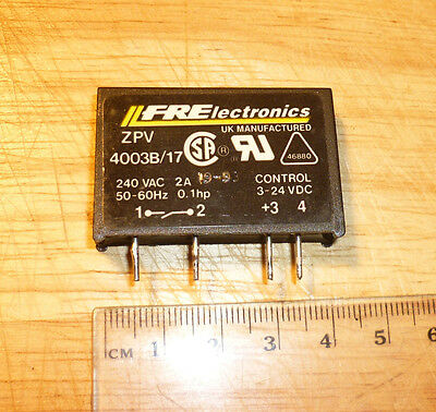 SSR Solid State Relay ZPV 4003B Output: 240VAC 2A Input: 3-24V DC Opto22 Pinout