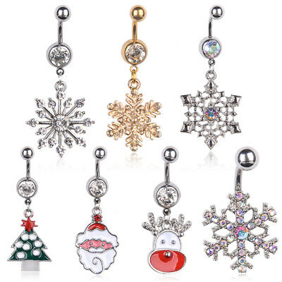 Fashion Navel Belly Ring Rhinestone Button Bar Barbell Body Piercing Jewelry