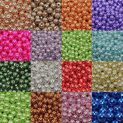 4681012MM Glass Pearl Czech Round Loose Beads Top Quality Jewelry Making