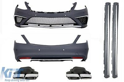Body Kit Mercedes W222 S-Class Long +Exhaust Tipps S63 AMG Chrome Special Edt