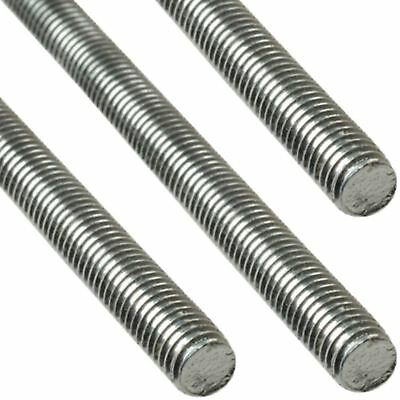 ForgeFix 1m A2 Stainless Steel Threaded Rod Bar Studding Stud M6-M12 1-10 Pack