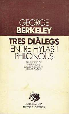 Tres diàlegs entre Hylas i Philonous. George Berkeley.