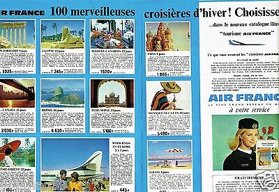 C- Publicité advertising 1965 (2 pages) Compagnie aerienne Air France