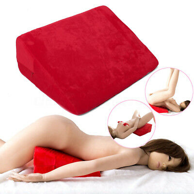 Sex Position Red Aid Pillow Microfiber Couple Wedge Cushion Foam Ramp Bolster