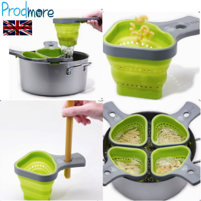 Prodmore Portion Control Pasta Basket Silicone Sieve Colander For Healthy Diet