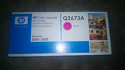 NEW GENUINE HP Laserjet 309A Q2673A MAGENTA Printer Toner Cartridge - 3500 3550
