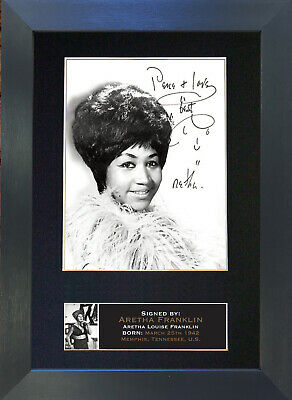 ARETHA FRANKLIN Mounted Signed Photo Reproduction Autograph Print A4 661