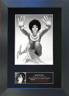 DIANA ROSS Mounted Signed Photo Reproduction Autograph Print A4 665