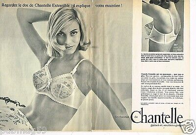 E- Publicité advertising 1965 (2 pages) Lingerie soutien gorge Chantelle 36c30f1fb55