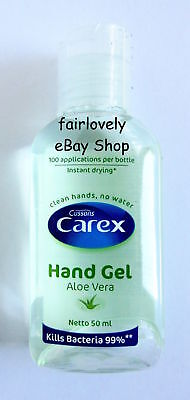 *BUY 3 GET 1 FREE* 1 x 50ml Cussons Carex Hand Gel Aloe Vera 100 Use Instant Dry